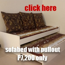 wooden sofa bed with pull out